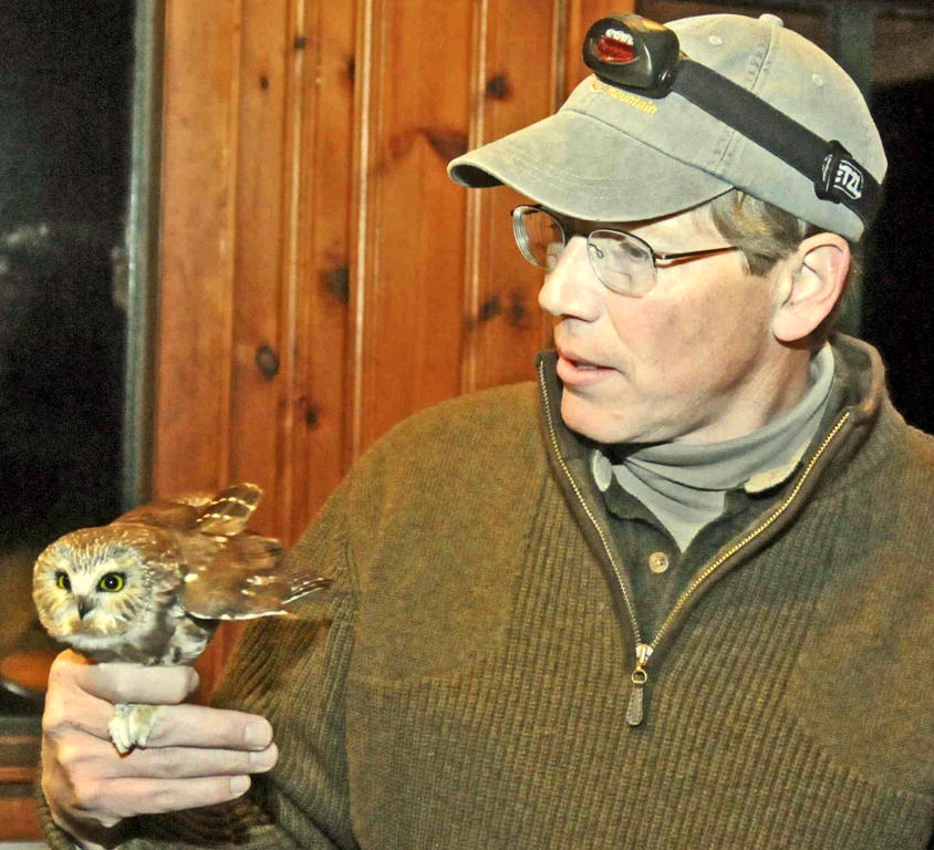 Scott with Saw-whet Owl.